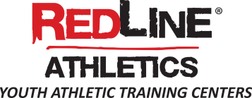 RedLine Athletics Logo Red-&-Black Lettering
